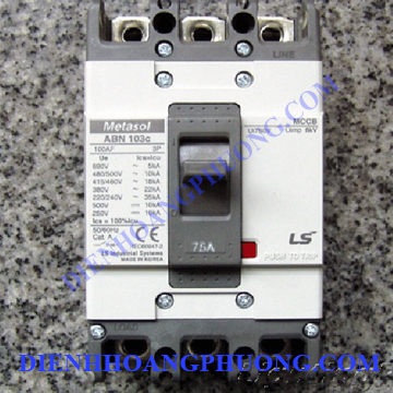 cầu dao điện LS 3P 75A 22kA – ABN103c